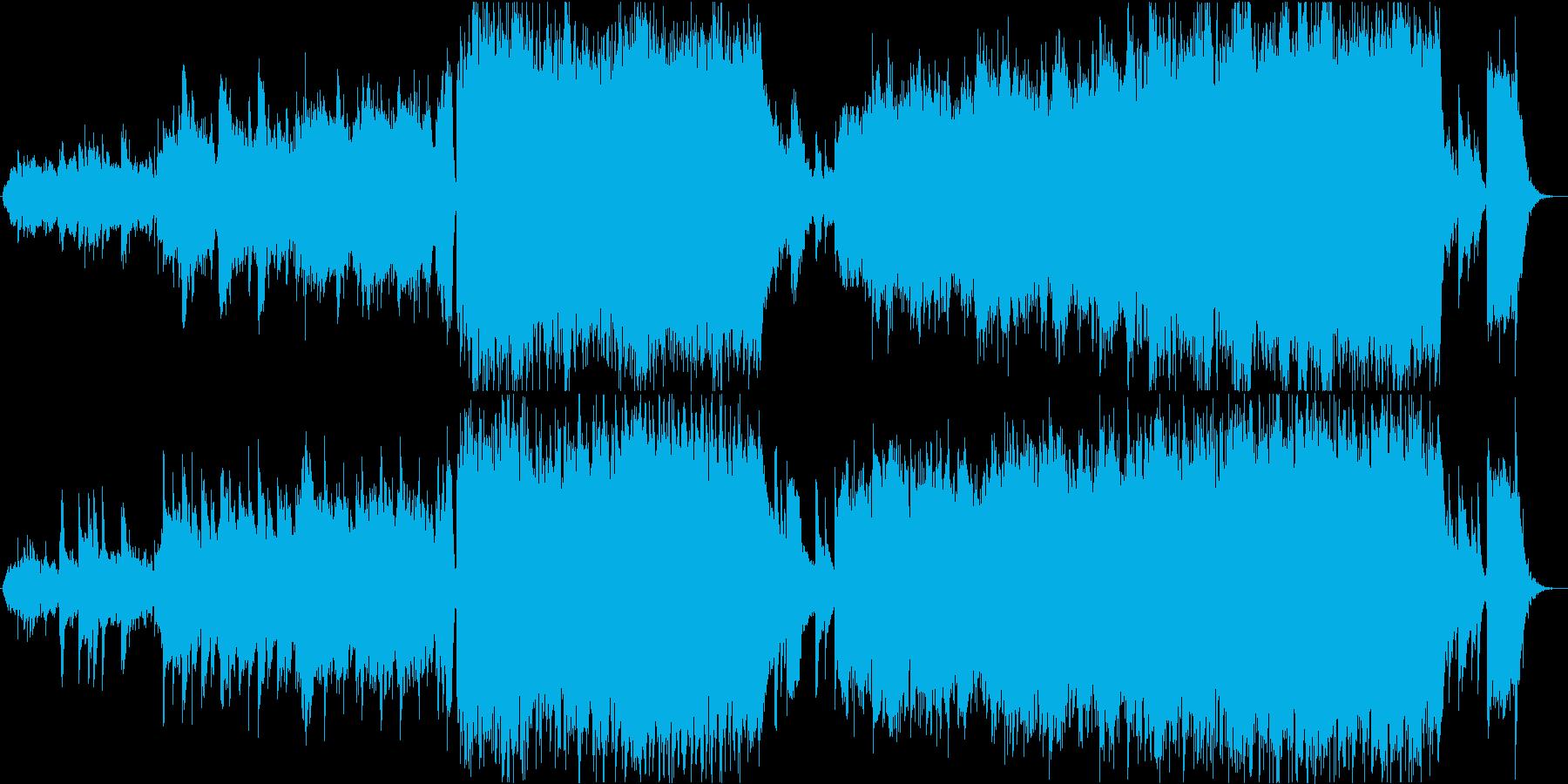 バイオリンが美しく歌う映像音楽の再生済みの波形
