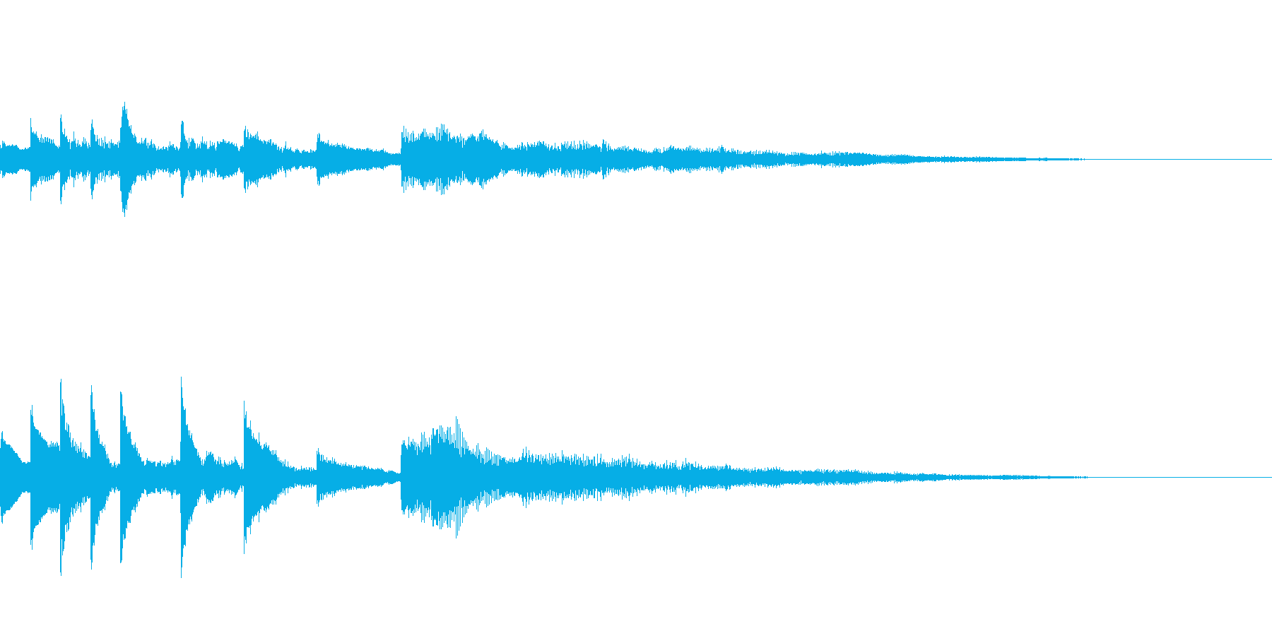 ゲームオーバーのジングルの再生済みの波形