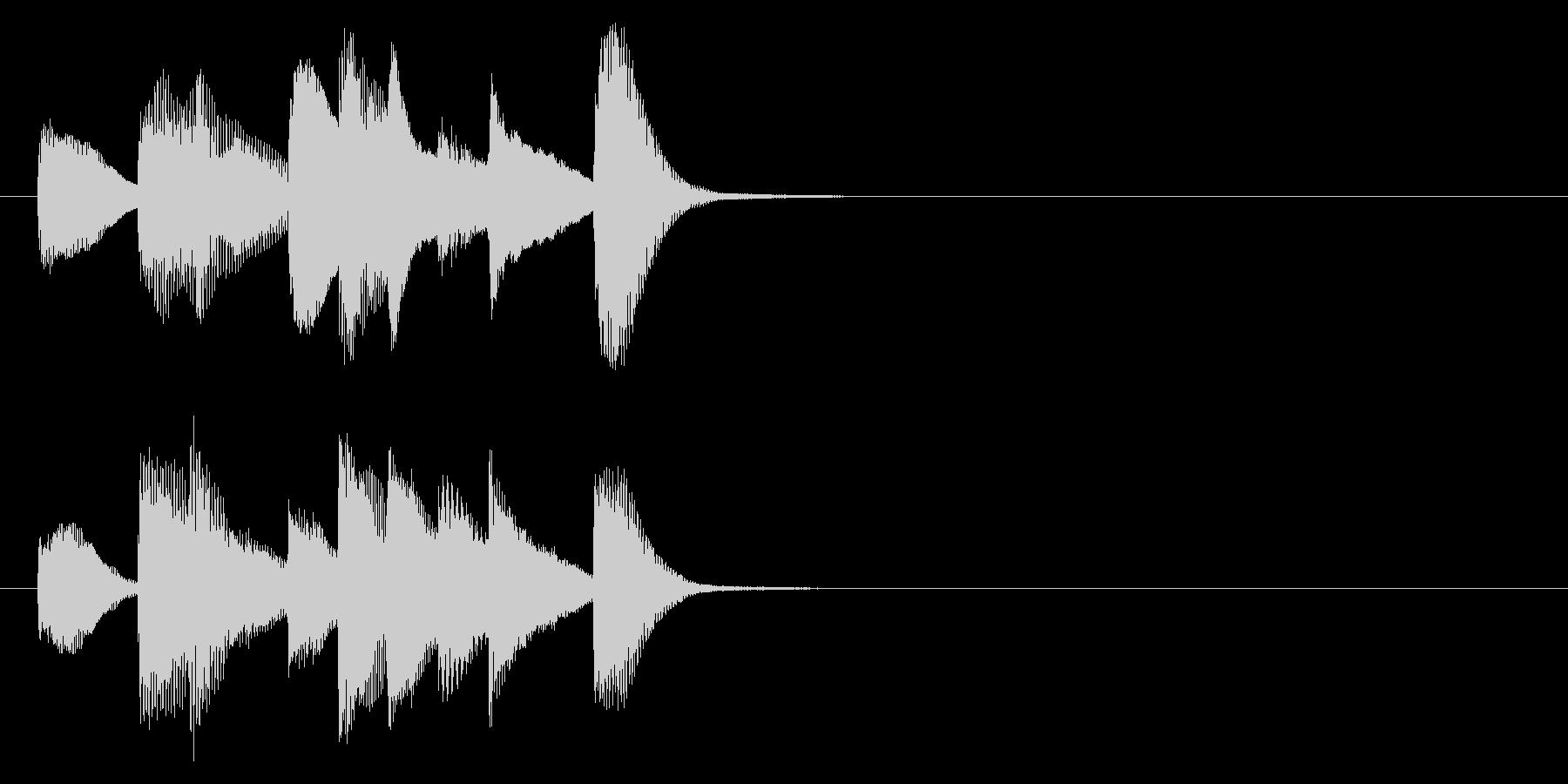 シンプルで短いピアノのジングルです。の未再生の波形