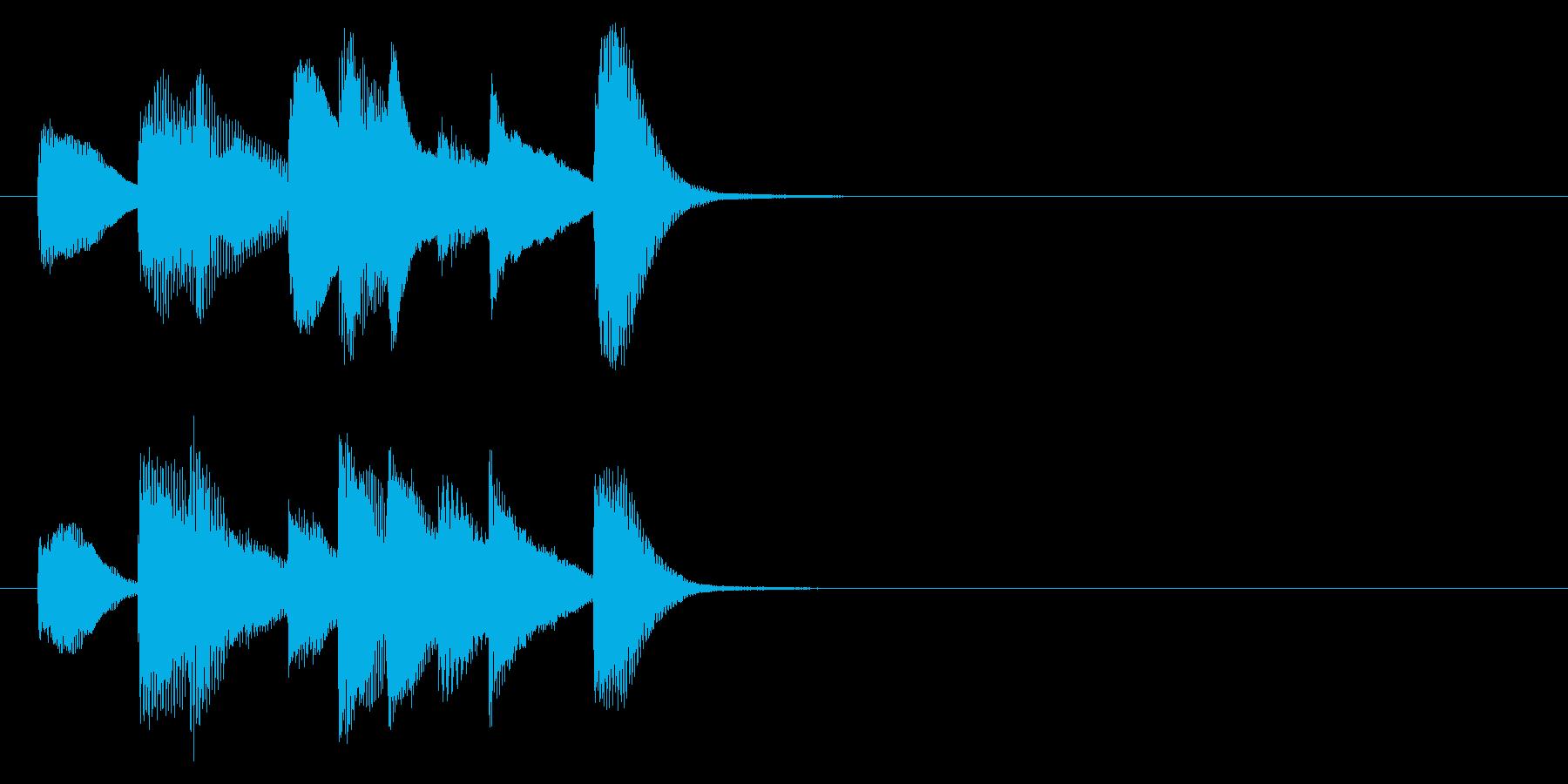 シンプルで短いピアノのジングルです。の再生済みの波形