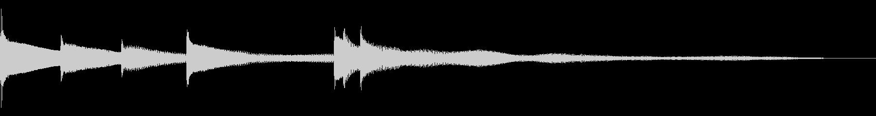 優しい旋律のピアノジングルの未再生の波形