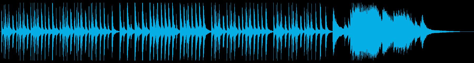 綺麗で弾むピアノメロディーの再生済みの波形