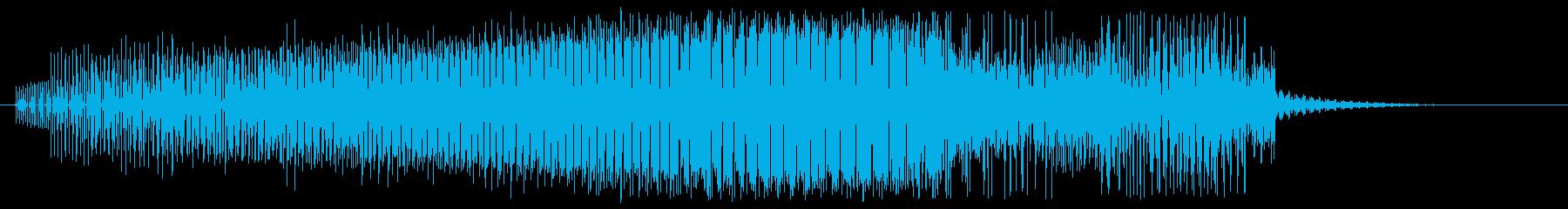 ジリジリ:力が収束する音の再生済みの波形