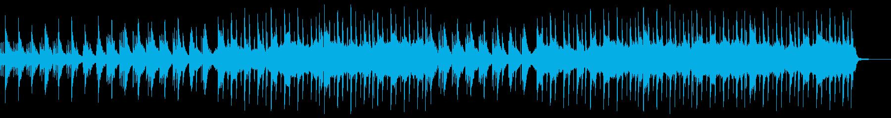 ゆったりと落ちついた和風曲の再生済みの波形