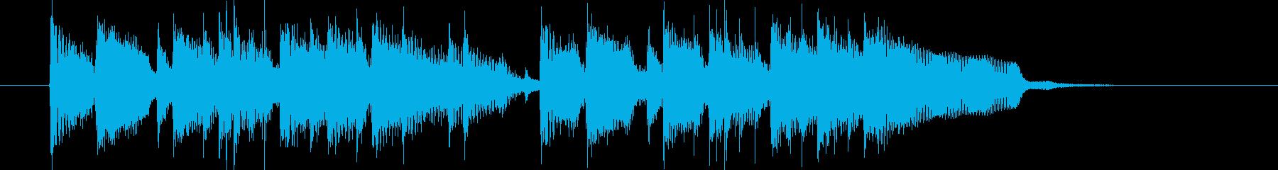 華やかなミドルテンポの12秒ジングルの再生済みの波形