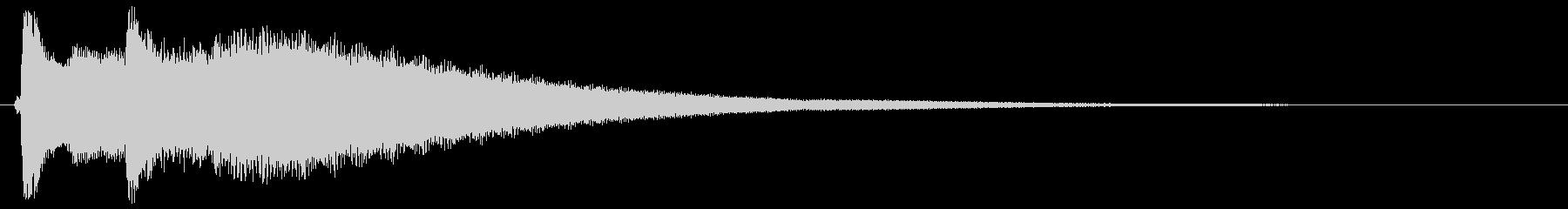 チリーン(高い金属音、トライアングル)の未再生の波形