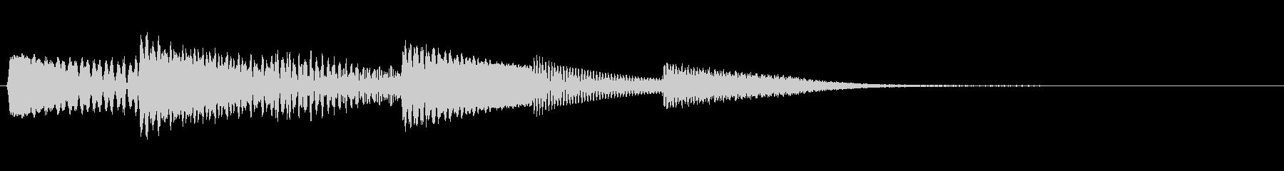 ワンコードアルペジオの決定音の未再生の波形