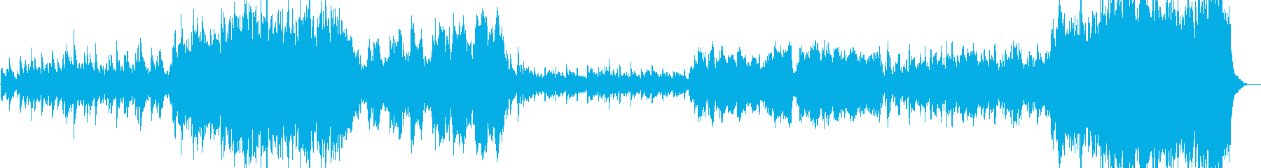 Image of a boy riding a bicycle on a summer road's reproduced waveform