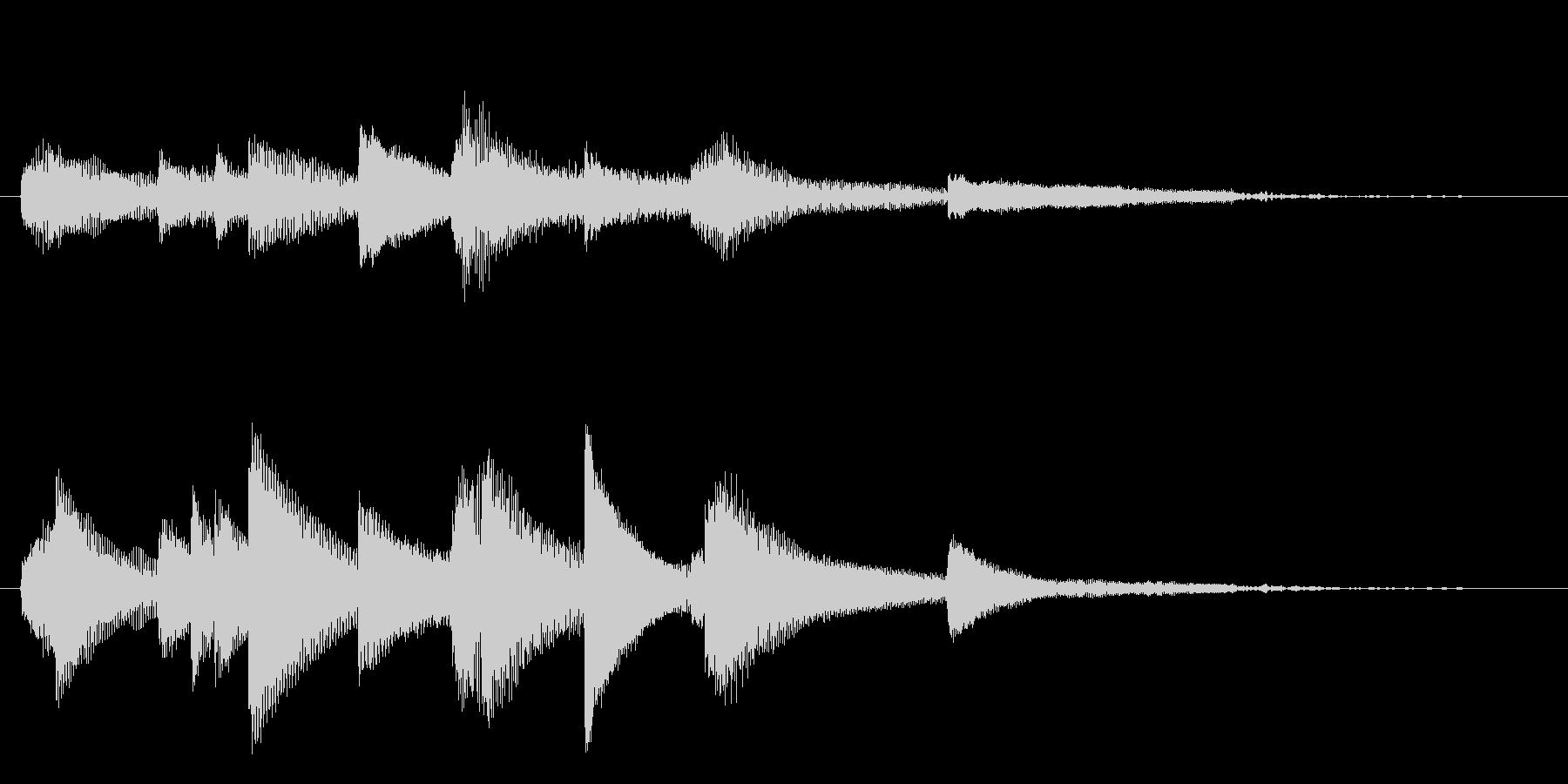 和風ピアノサウンドロゴ_ジングル5秒の未再生の波形