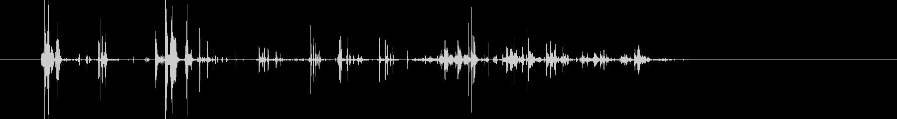 ジャリン!チャリン、チャリチャリ…小銭音の未再生の波形