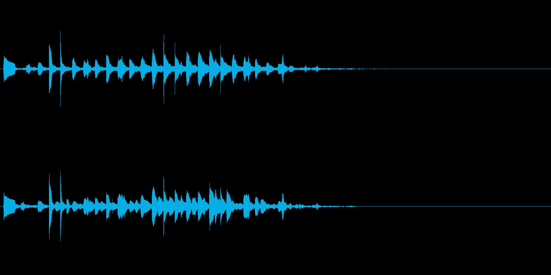 クリアで澄んだアラームの音の再生済みの波形