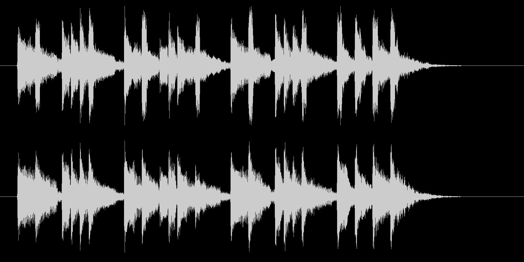 スローテンポのワルツの未再生の波形
