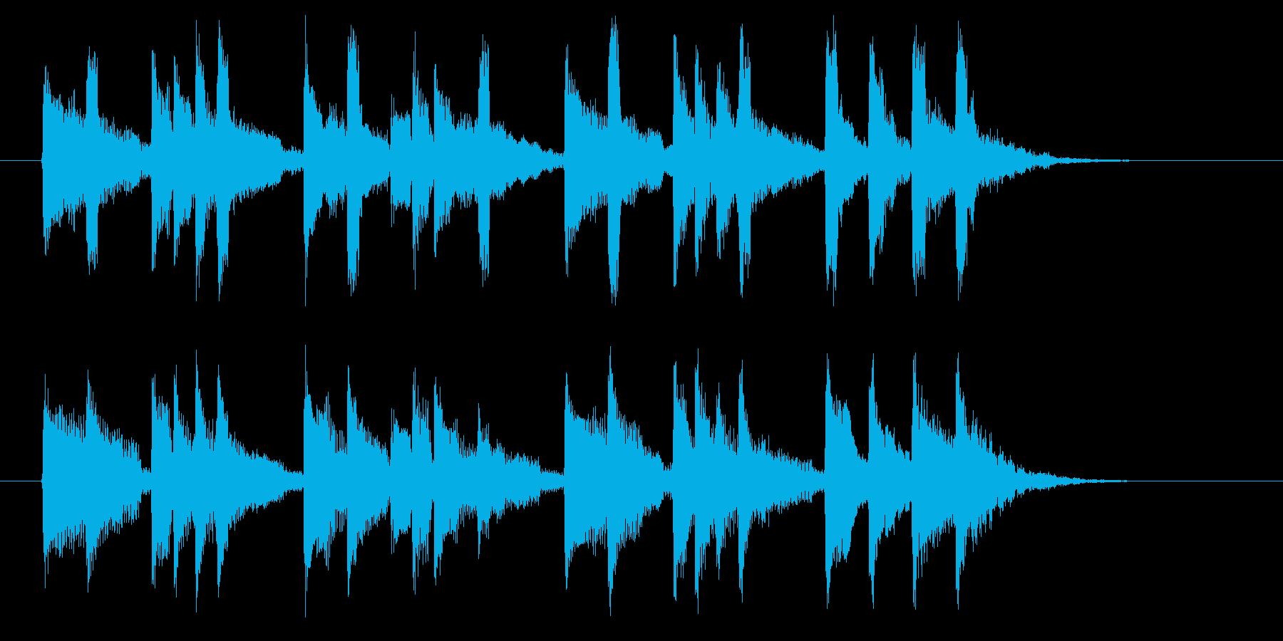 スローテンポのワルツの再生済みの波形
