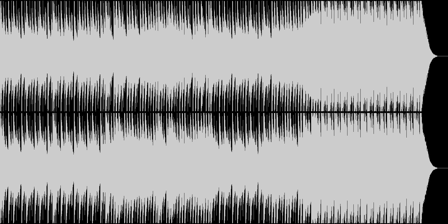 声素材使用 無機質でミニマルなトラックの未再生の波形
