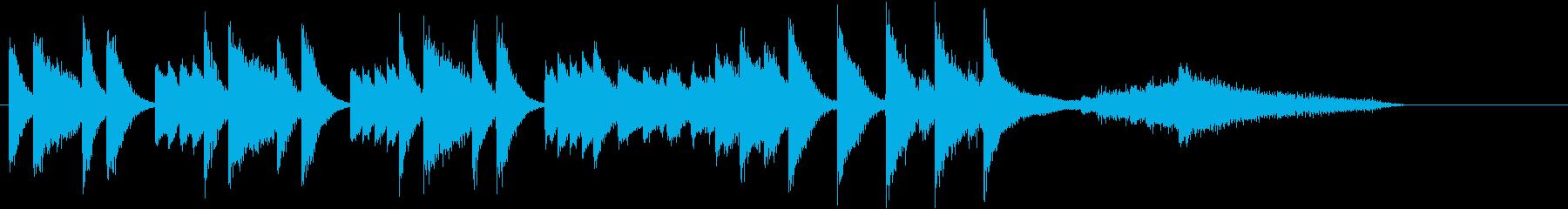 日本&演歌風めでたいお祝いピアノジングルの再生済みの波形