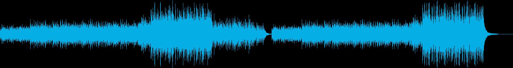 暗めで坦々と続く映画のサウンドトラック風の再生済みの波形