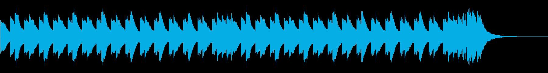 電車の接近メロディー(発車メロディー)の再生済みの波形