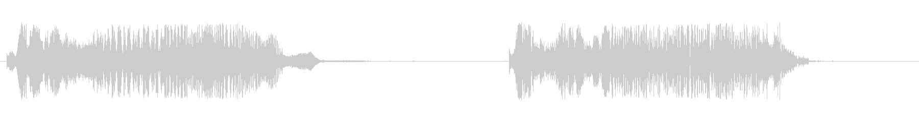 イーグルスクリーム、カウx2の未再生の波形
