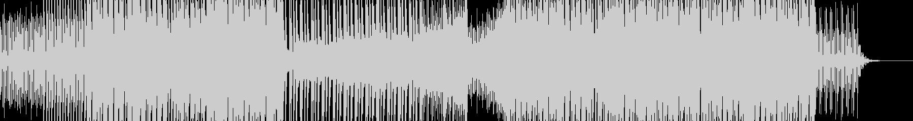 フィールド探索系4つ打ちミュージックの未再生の波形