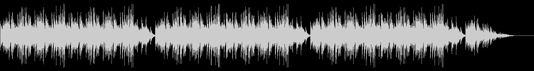 「どんぐりころころ」シンプルなピアノソロの未再生の波形