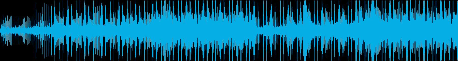 機械的で不気味なテクスチャー(ループ)の再生済みの波形
