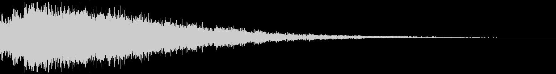起動音、サウンドロゴの未再生の波形