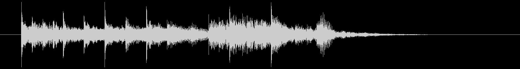 ポップでコミカルなジングル、サウンドロゴの未再生の波形