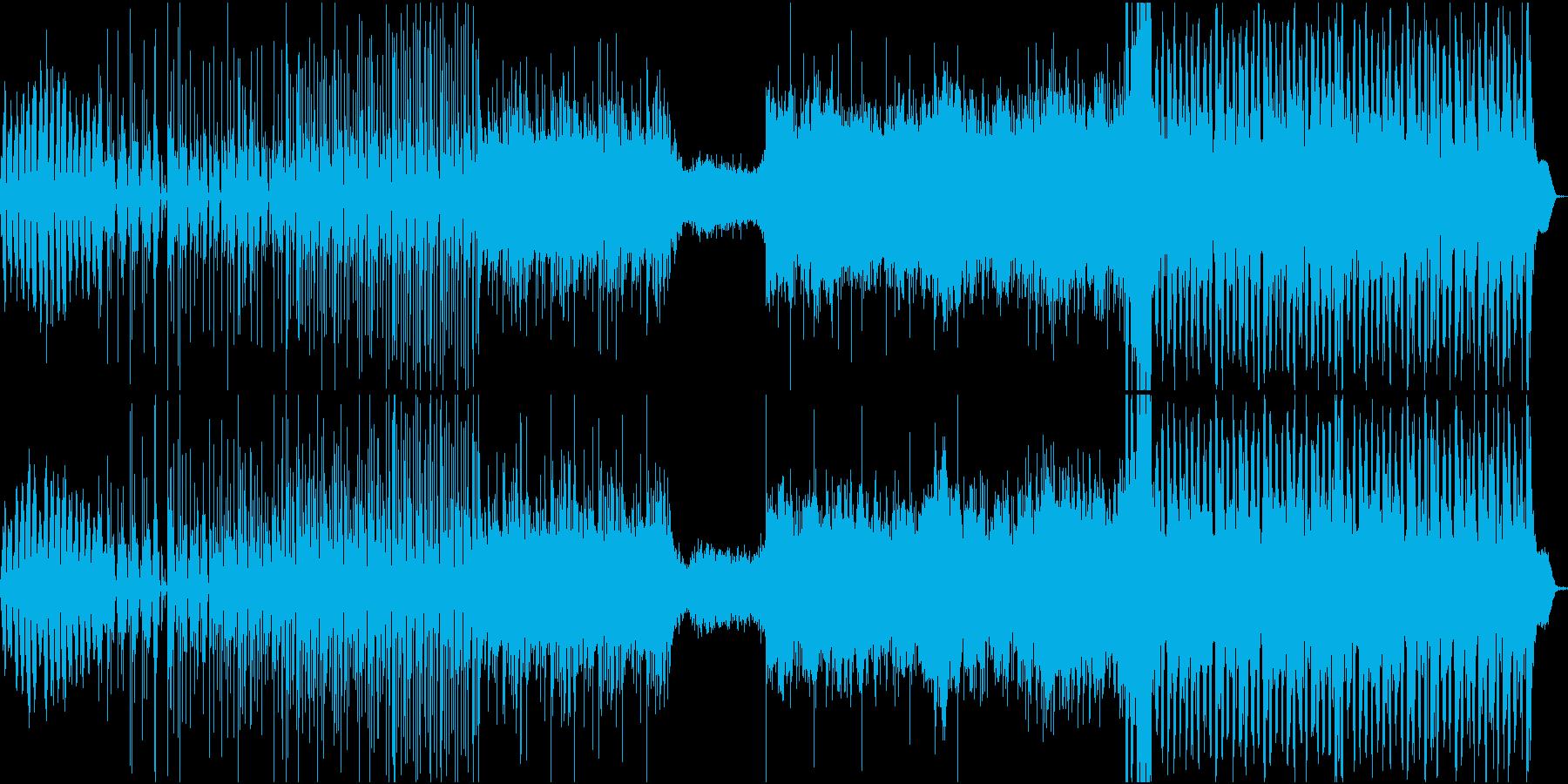 エレクトロ色の強い音ゲー系楽曲の再生済みの波形