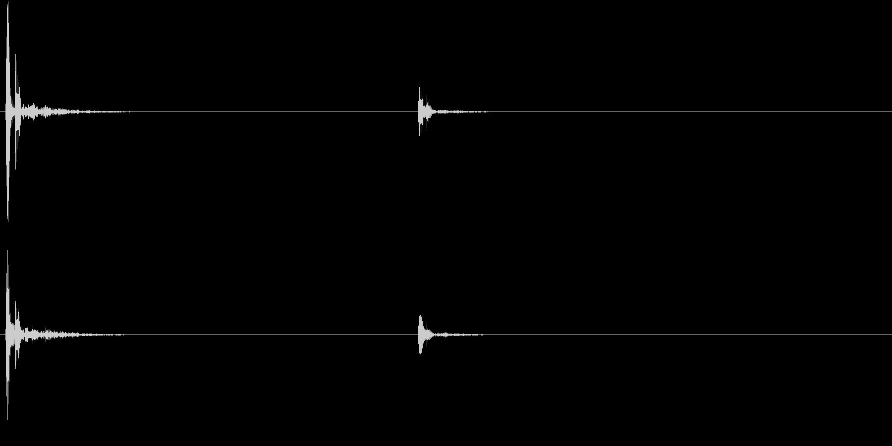 【生録音】お箸の音 6 カツッとつまむの未再生の波形