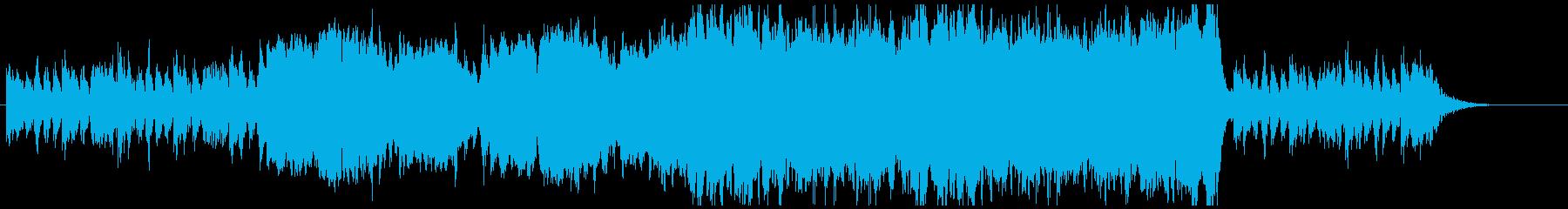 魔女の館イメージの怪しい弦楽器曲の再生済みの波形
