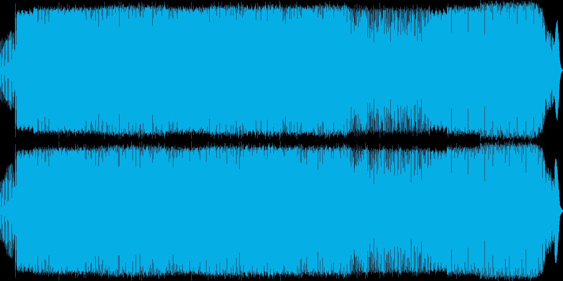 緊迫した状況をイメージしたポップロックの再生済みの波形