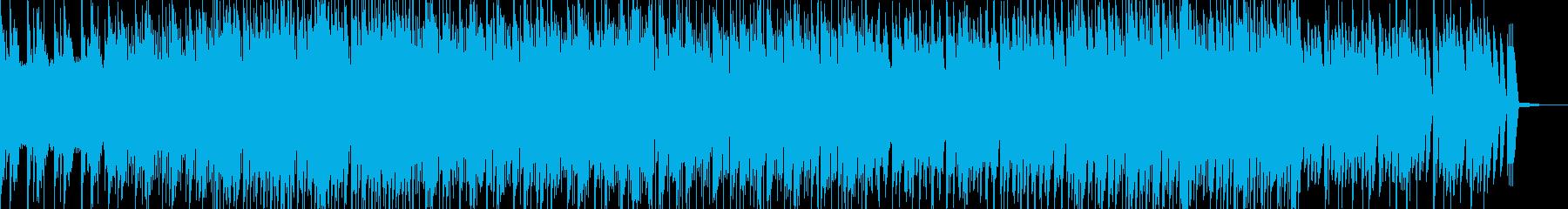 やさしいメロディとポップなリズムの曲の再生済みの波形