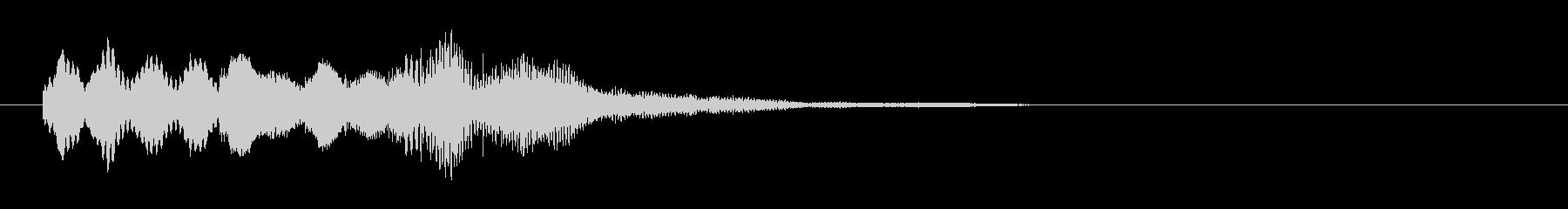 バリの風鈴のような打楽器の音の未再生の波形