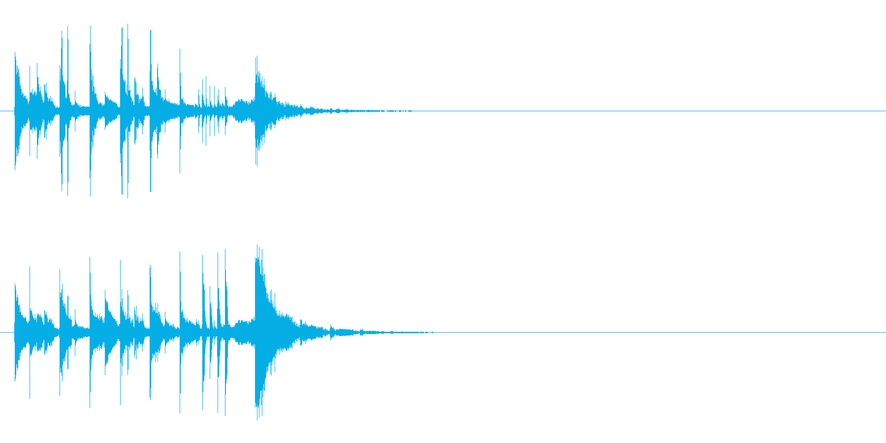 コミカルで楽しいラテン系ジングルの再生済みの波形
