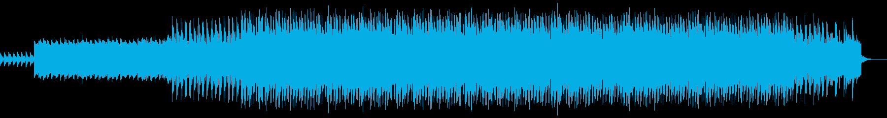 不気味でノイジーなシンセリードの曲の再生済みの波形