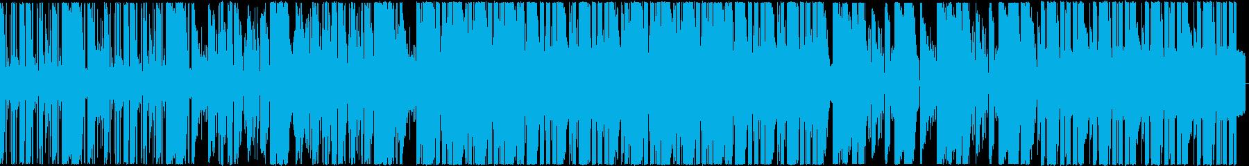 エレクトロでカッコいいダブステップの再生済みの波形