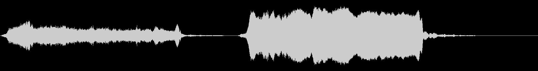生演奏龍笛 ジングルの未再生の波形