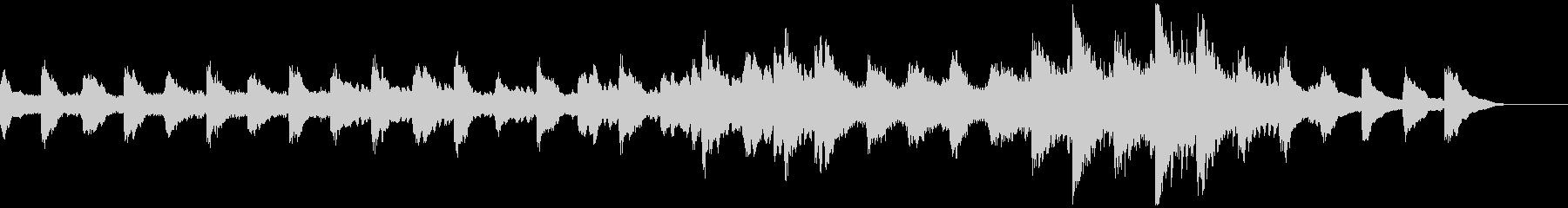 ミステリー・ホラー・不気味な生音ピアノの未再生の波形