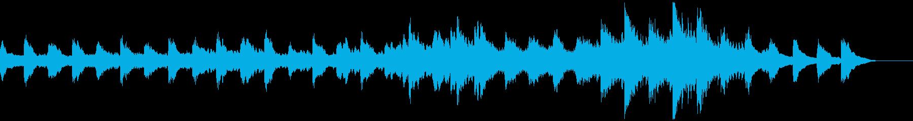 ミステリー・ホラー・不気味な生音ピアノの再生済みの波形