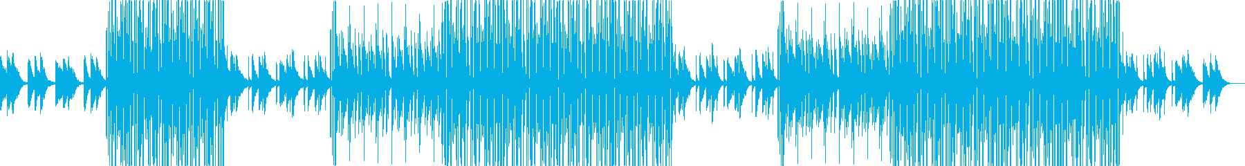 バレンタインに合うLofiヒップホップの再生済みの波形