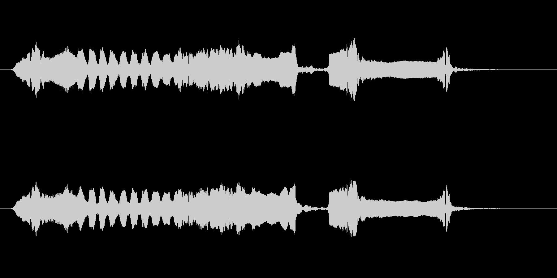 篠笛生演奏の勢いあるジングル01の未再生の波形