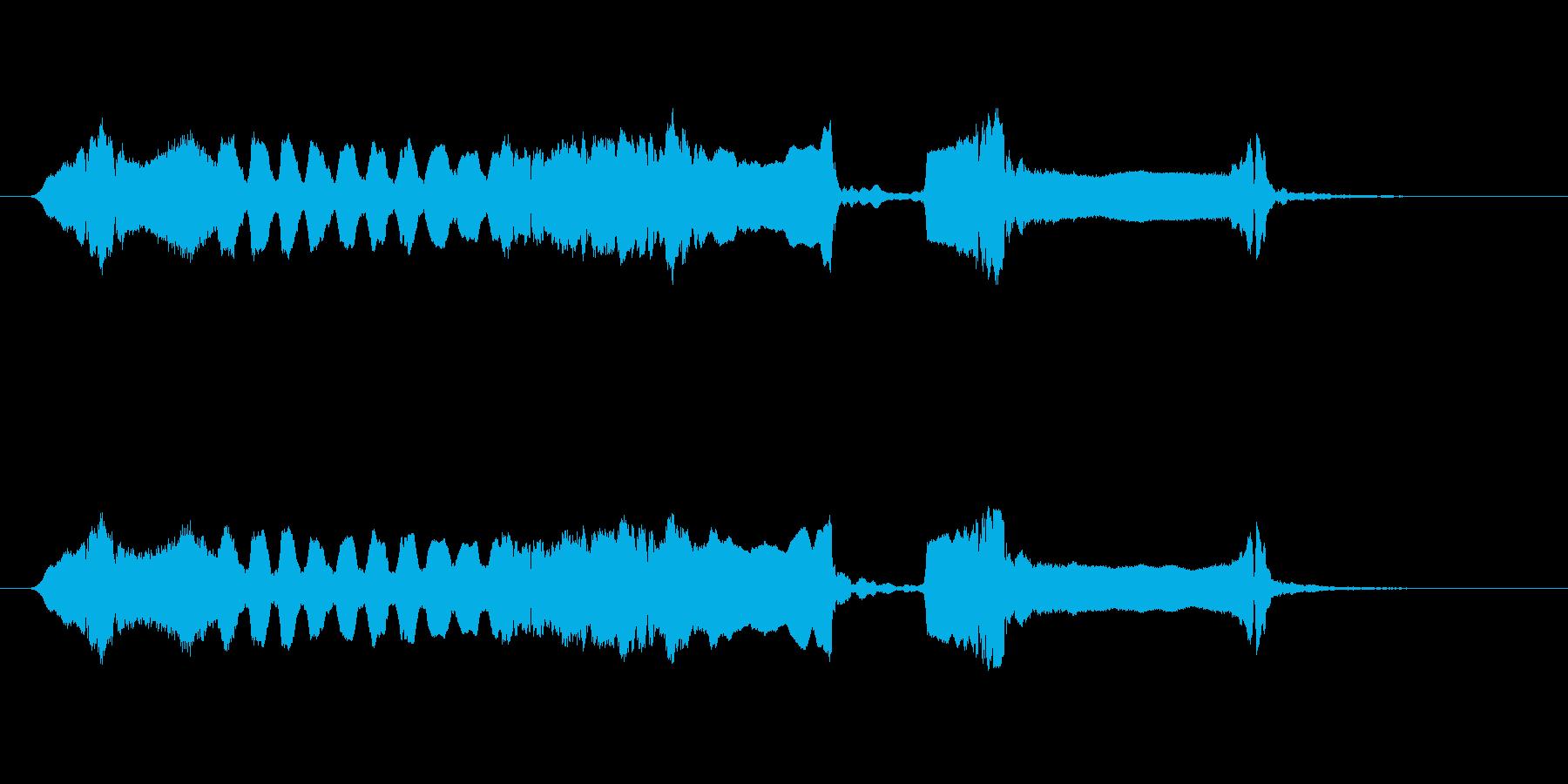 篠笛生演奏の勢いあるジングル01の再生済みの波形