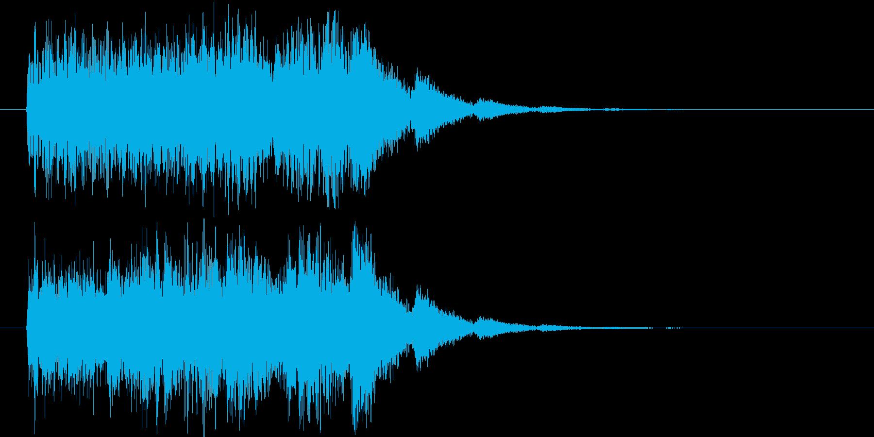 場面転換の音_ヒュィーンの再生済みの波形