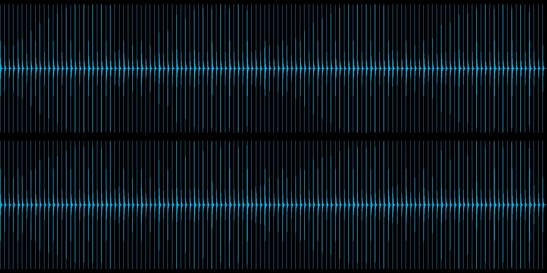 生音クリック01-120-AccOnの再生済みの波形