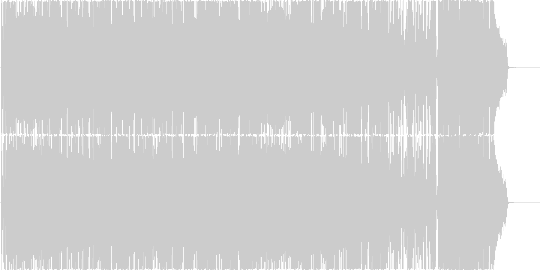 昔ながらのパンクロック風 女性ボーカル曲の未再生の波形