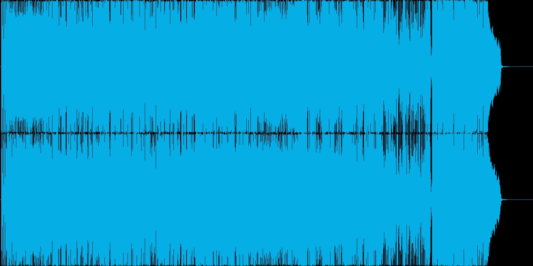 昔ながらのパンクロック風 女性ボーカル曲の再生済みの波形