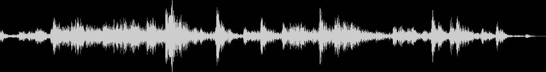 引き戸を開ける音(ガラガラ)の未再生の波形