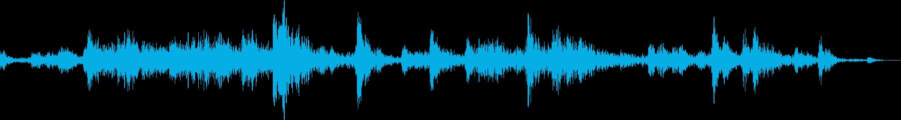 引き戸を開ける音(ガラガラ)の再生済みの波形