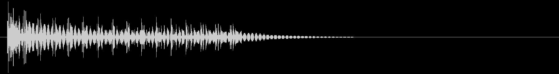 電撃音の未再生の波形