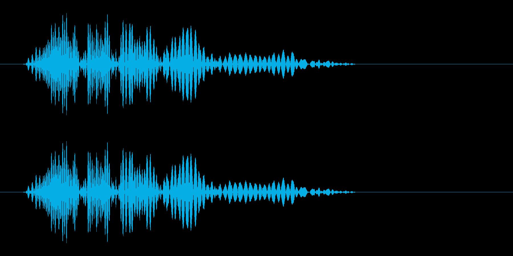 ヒュンっ!(風切り効果音)の再生済みの波形